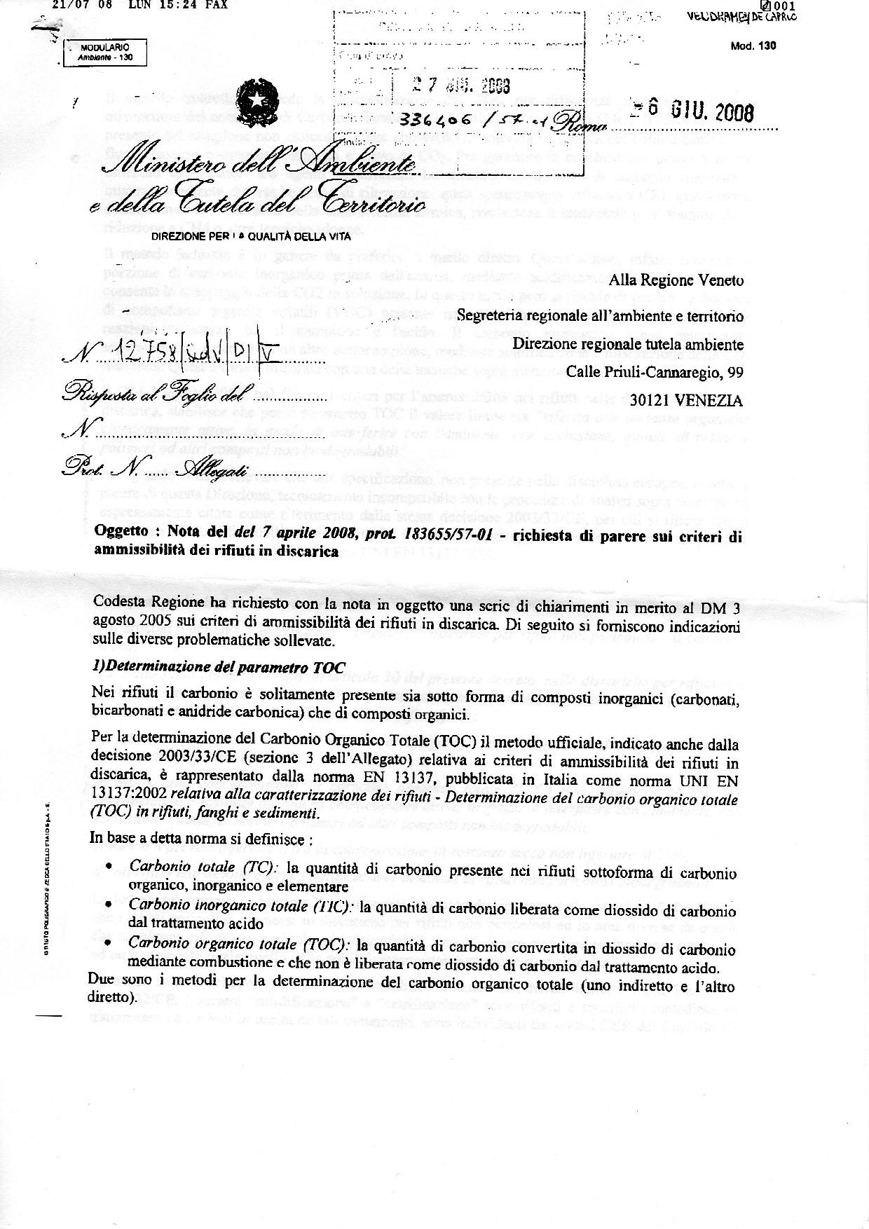 Regione Veneto Rifiuti