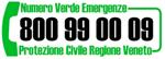 Numero verde Protezione civile: 800990009