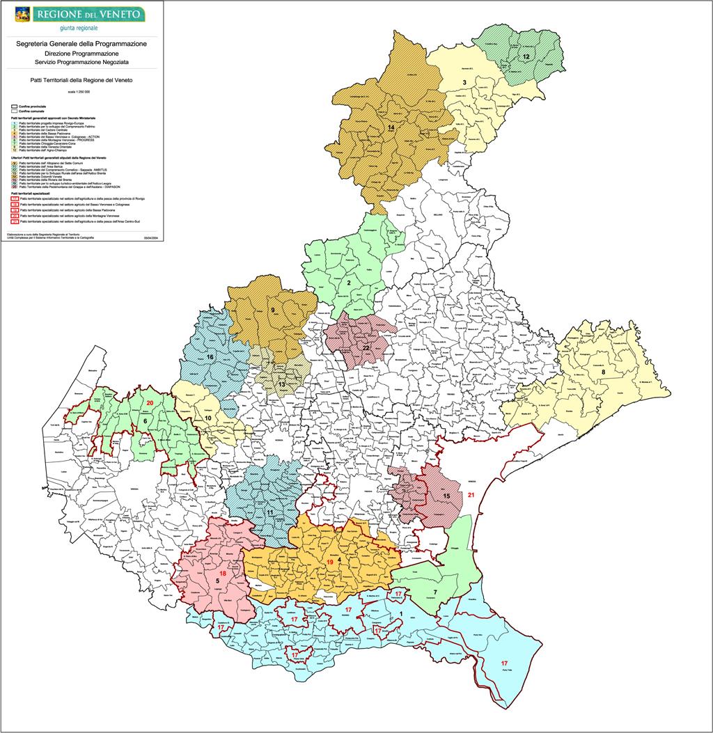Cartina Politica Regione Veneto.Patti Territoriali Regione Del Veneto